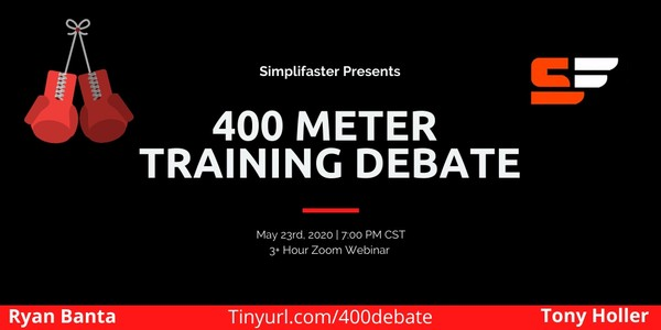 Saturday Night Fights 400 Meter Debate Holler and Banta