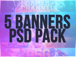 5 Banners PSD Pack (NEW)