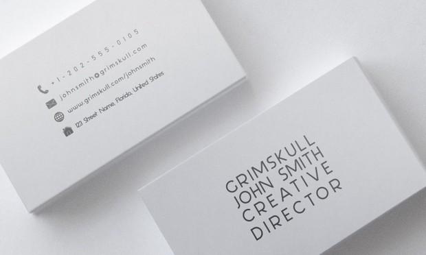 Minimalist White Business Card Template Nicolas Poore