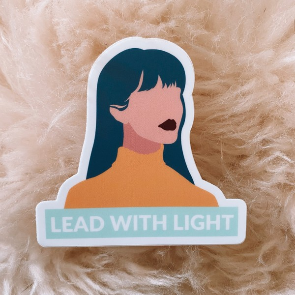 Lead with Light Sticker
