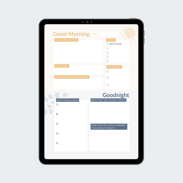 Digital Daily Reflection Sheet