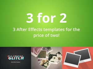 3 for 2 After Effects Template Bundle