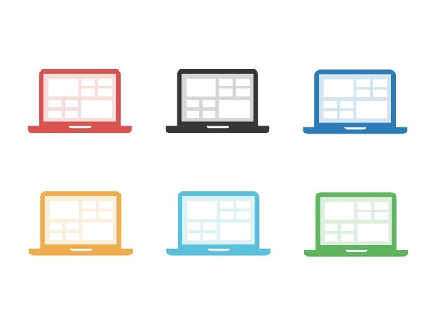 42 Flat Icons | Round and Square corners