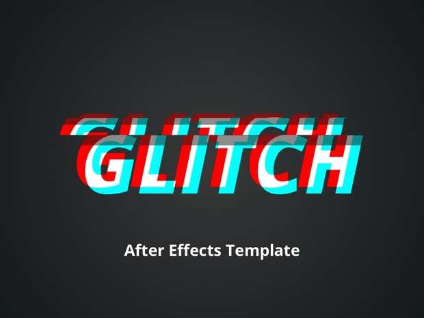 glitch v1 0 after effects template ben jones