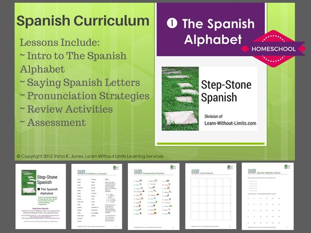 Homeschool Spanish: Alphabet