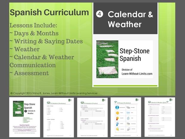 Lesson Plans: Spanish Calendar & Weather