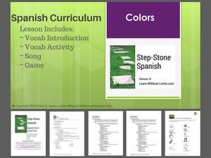 Spanish Colors Lesson Plan