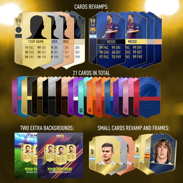 FIFA 18 CARDS GFX PACK