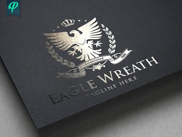 Eagle Wreath Logo Template
