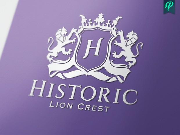 Historic - Lion Crest Logo Template