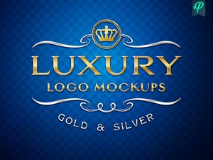 Luxury Logo Mockup - Gold and Silver