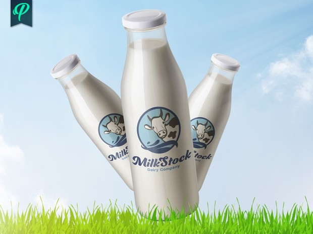 MilkStock - Dairy Products Logo