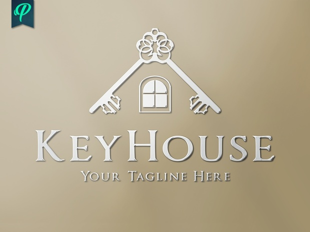 keyhouse real estate logo template penpal