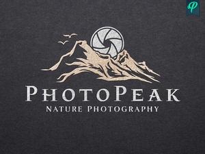 PhotoPeak - Nature Photography Logo Template