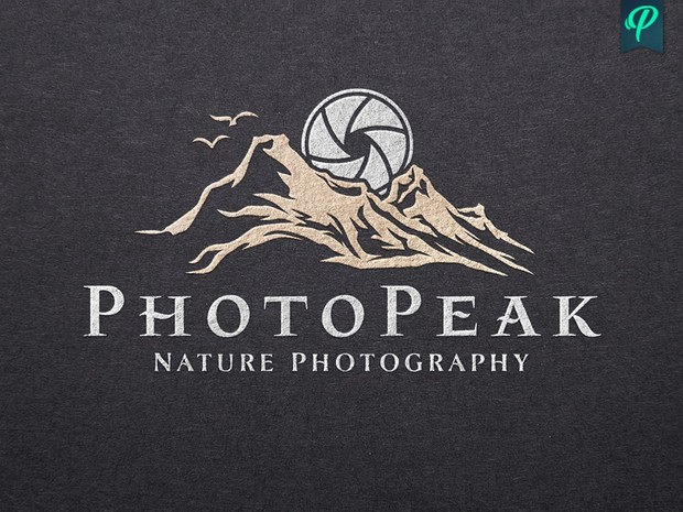 PhotoPeak - Nature Photography Logo Template