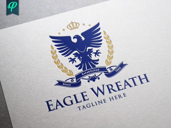 Eagle Wreath Logo Template