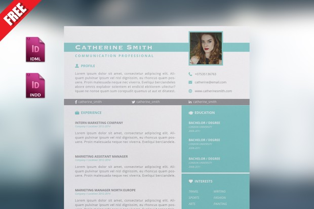 Indesign Resume Template Vol1