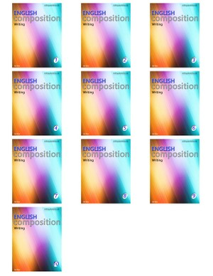 Writing composition books 1 to 10