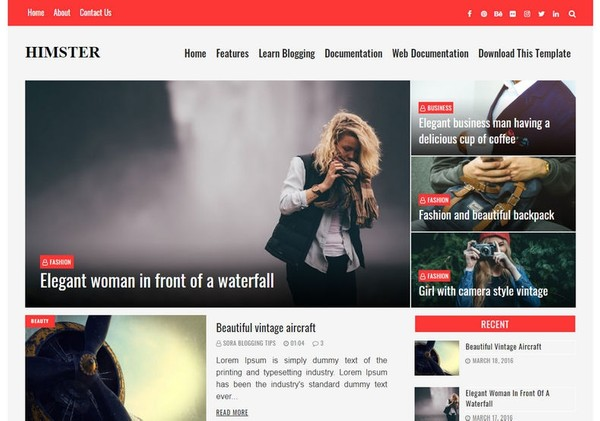 Himster Blogger Template Premium Version