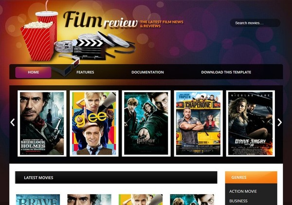 Film Reviews Blogger Template Premium Version