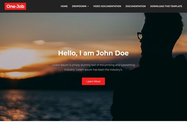 OneJob Blogger Template Premium Version