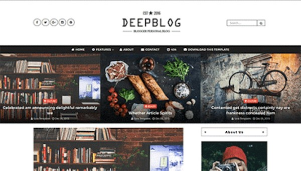 Deep Blog Blogger Template Premium Version