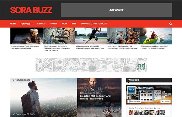 Sora Buzz Blogger Template Premium Version