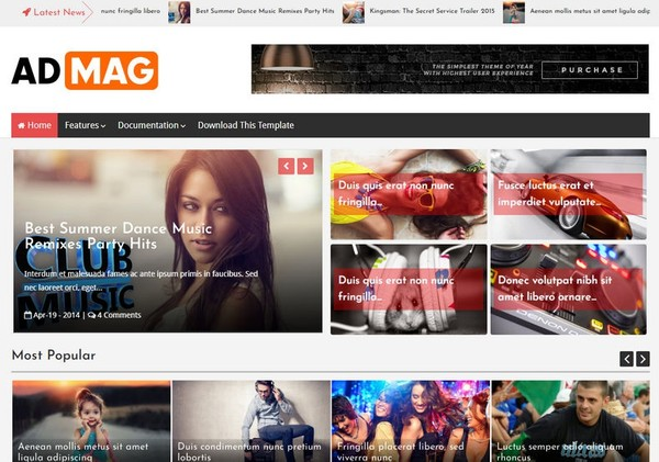 Ad Mag Blogger Template Extended Version