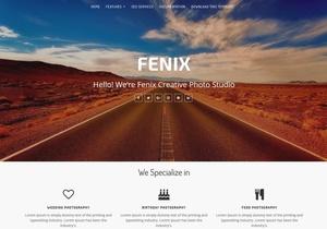 Fenix Portfolio Blogger Template Premium Version
