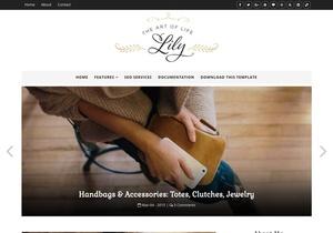 Lily Fashion Blogger Template Premium Version