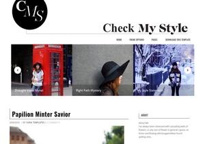 Check My Style Blogger Template Premium Version