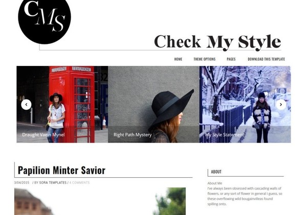 Check My Style Blogger Template Premium Version
