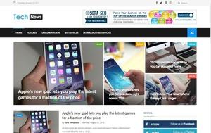 Tech News Blogger Template Premium Version