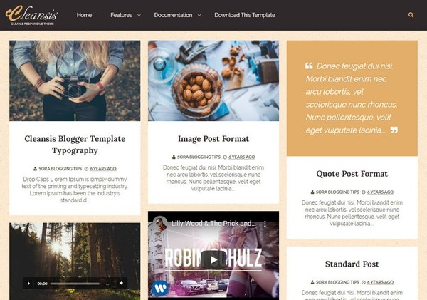 Cleansis Blogger Template Extended Version