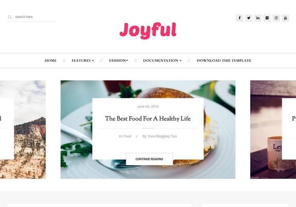 JoyFul Blogger Template Premium Version