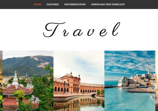 Travel Blogger Template Premium Version