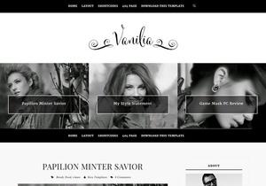 Vanilia Blogger Template Premium Version