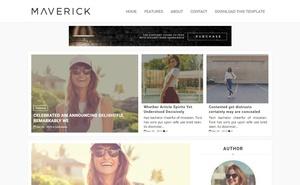 Maverick Blogger Template Premium Version