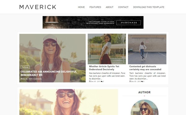 Maverick Blogger Template Premium Version