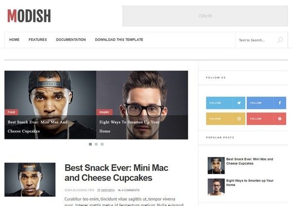Modish Blogger Template Premium Version