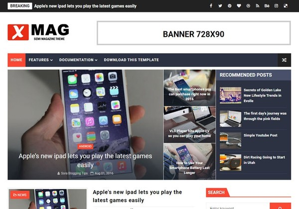 XMag Blogger Template Extended Version