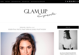 Glam Up Blogger Template Premium Version
