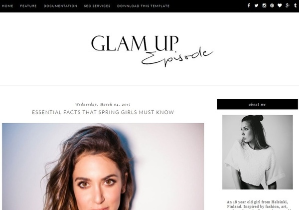 Glam Up Blogger Template Premium Version
