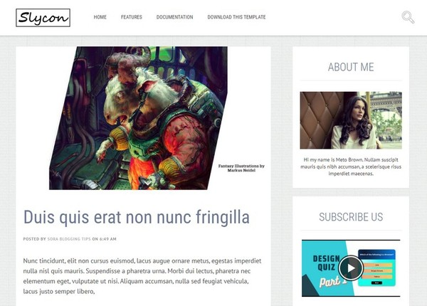 Sycon Blogger Template Premium Version