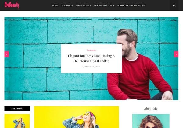 OmBeauty Blogger Template Premium Version