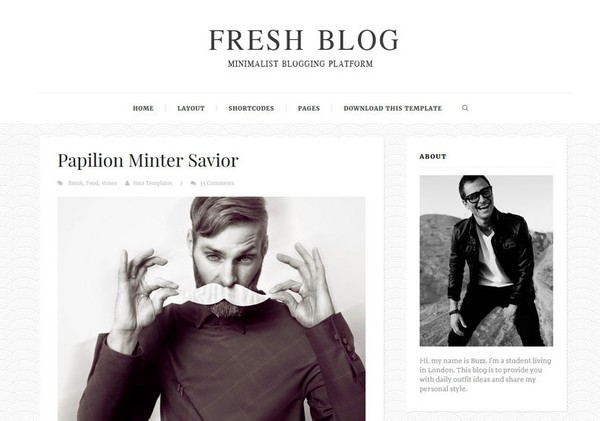 Fresh Blog Blogger Template Premium Version