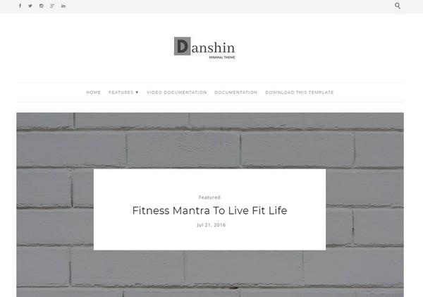 Danshin Blogger Template Premium Version