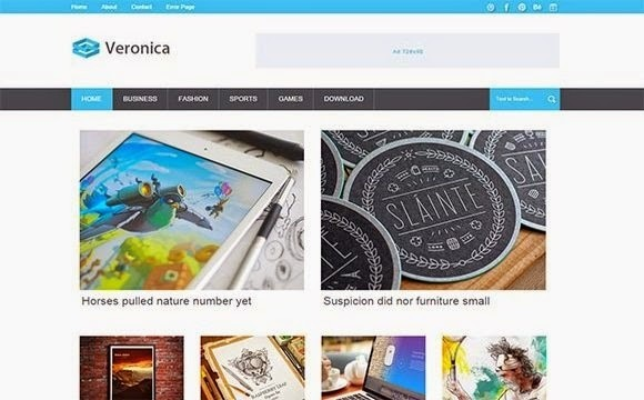 Veronica Blogger Template Premium Version