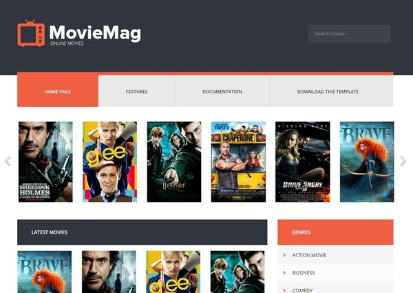 Movie Mag Blogger Template Extended Version