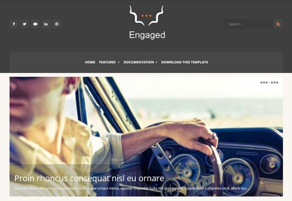Engaged Blogger Template Extended Version